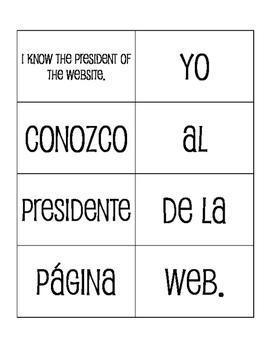 Spanish Communication Sentence Mixer