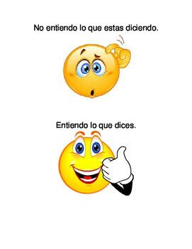 Spanish Communication Sheet