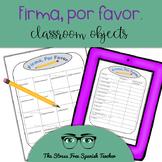 Spanish Communicative Activity, Classroom Objects Questionnaire, Survey