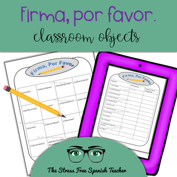 Spanish Communicative Activity, Classroom Objects Question