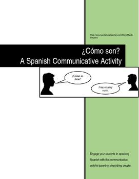 Spanish Communicative Activity: Describing People