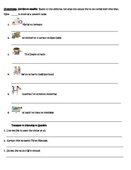 Spanish Partner Communicative:GUSTAR, verbs and Indirect Object Pronouns  Q & A