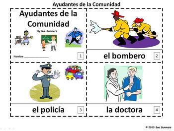 Spanish Community Helpers 2 Emergent Readers - Ayudantes de la Comunidad