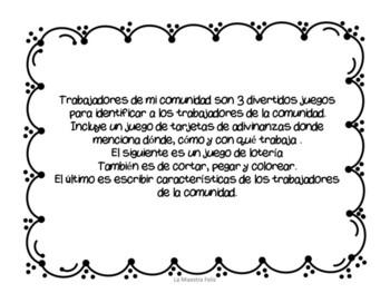 Spanish Speakers: Community Workers/ Mi comunidad