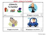 Spanish Family 2 Emergent Reader Booklets ¿Cómo Es Tu Familia?