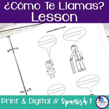 Spanish Como Te Llamas Lesson
