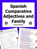 Spanish Comparative Adjectives with Family Fill in the Blank and Sentences