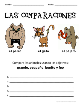 Spanish Comparatives Animal Practice