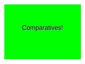 Spanish Teaching Resources. The Comparative PowerPoint Pre