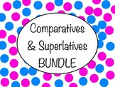 Spanish Comparatives & Superlatives BUNDLE - Slideshows, Worksheet Packs