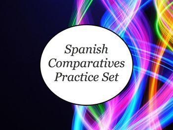 Spanish Comparatives & Superlatives BUNDLE - Slideshows, Worksheet Packs