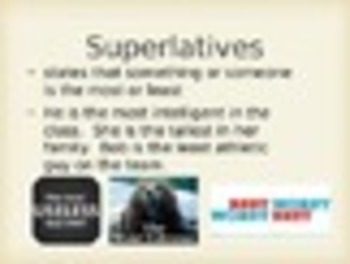 Spanish Comparatives & Superlatives Keynote Presentation for Mac, iPad,etc.