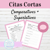 Spanish Comparatives and Superlatives Citas Cortas Speaking Activity