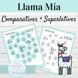 Spanish Comparatives and Superlatives Llama Mía Speaking Activity