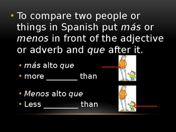 Spanish Comparatives and Superlatives Powerpoint