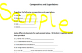 Spanish Comparatives and Superlatives Practice Activities