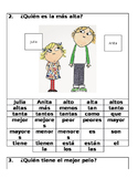Spanish Comparatives and Superlatives Sentence Formation Competition