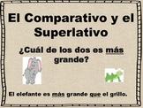 Spanish  Comparativo y Superlativo Presentation and Studen