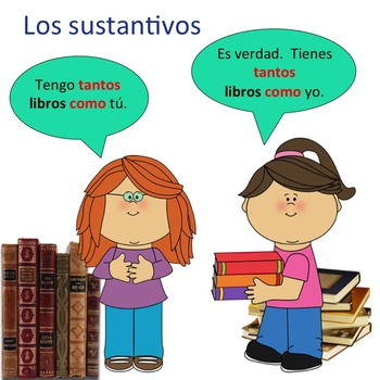 Spanish Comparativos y Superlativo PowerPoint and Printables