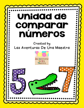 Spanish Comparing Numbers Unit