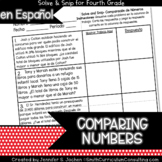 Spanish Comparing Numbers Word Problems Math Activity | So