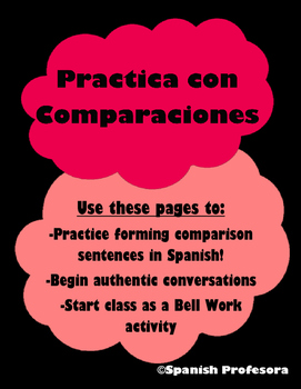 Spanish Comparison Conversation Starters