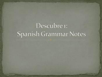 Spanish Comparison Grammar Notes