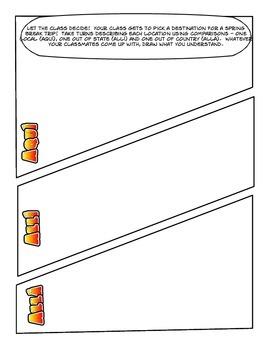 Spanish Comparisons Cartoon Activities