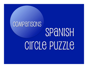 Spanish Comparisons Circle Puzzle