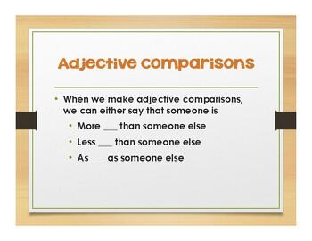 Spanish Comparisons Notes