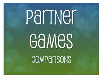 Spanish Comparisons Partner Games