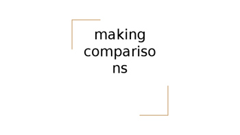 Spanish Comparisons PowerPoint notes