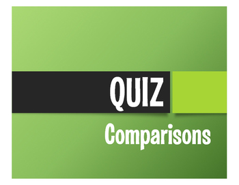Spanish Comparisons Quiz