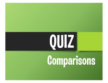 Spanish Comparisons Quiz