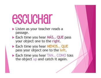 Spanish Comparisons Tactile Activity