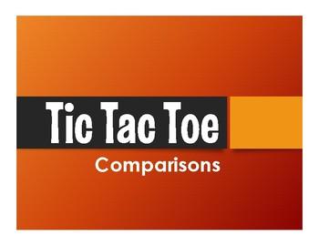 Spanish Comparisons Tic Tac Toe Partner Game