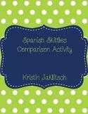 Spanish Comparisons Using Skittles