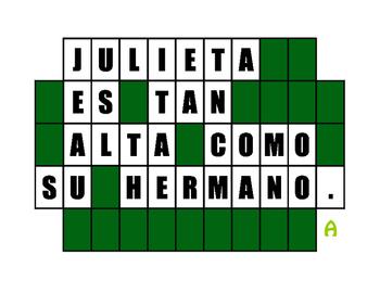 Spanish Comparisons Wheel of Spanish