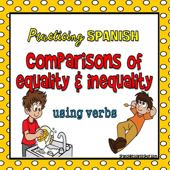 Spanish Comparisons with Verbs Powerpoint