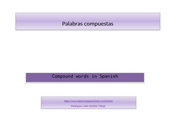 Spanish Compound words