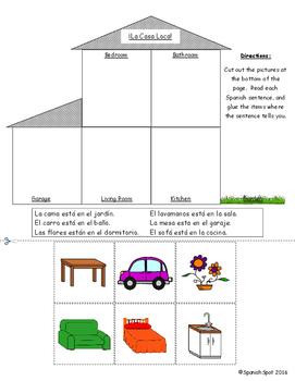 Spanish Comprehension Activity- La casa loca