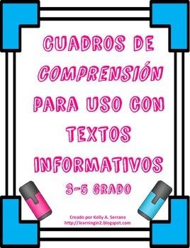 Cuadros de comprensión para textos informativos ( Compreh