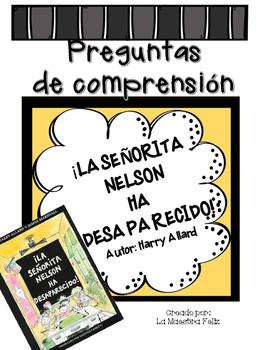 Spanish Comprehensive Test: La Señorita Nelson ha desaparecido!