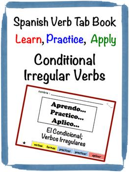 Spanish Conditional (Irregular) Tab Book