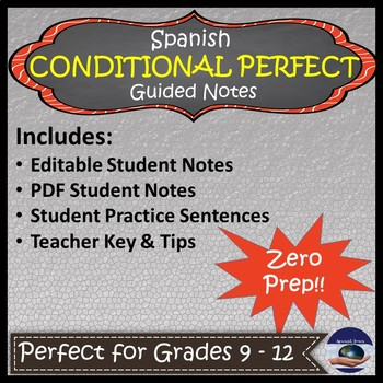 Spanish Conditional Perfect - Guided Notes and Key