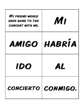 Spanish Conditional Perfect Sentence Mixer