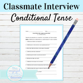 Spanish Conditional Tense Classmate interview Activity