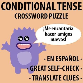 Spanish - Conditional Tense - Crossword Puzzle