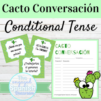 Spanish Conditional Tense Cacto Conversación Speaking Activity