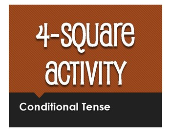 Spanish Conditional Tense Four Square Activity